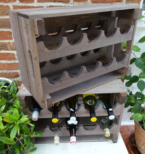 Wooden Wine Rack Crate Large