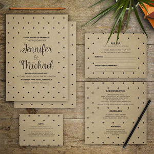 Spots And Allsorts Wedding Invitation