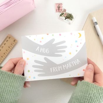 Personalised A Hug From Me Card