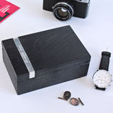 Personalised Wooden Cufflink Box - men's jewellery