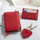 Personalised Scarlet Leather Card Holder
