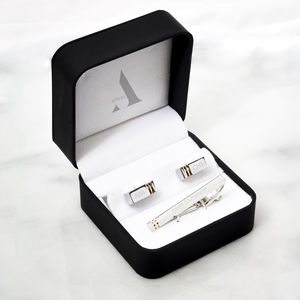 Zorin Personalised Cufflink And Tie Pin Gift Set