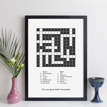 Custom crossword