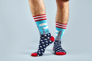 Men's Socks New York Pattern - underwear & socks
