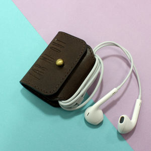 'Ear Me Out' Leather Earphone Holder - secret santa gifts