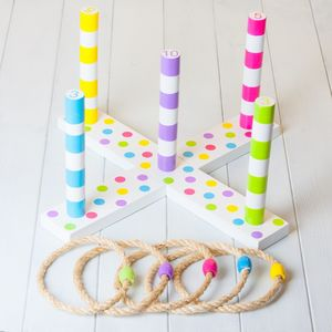Childrens Quoits Throwing Rings Game - traditional toys & games
