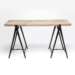Industrial Scissor Leg Desk - kitchen