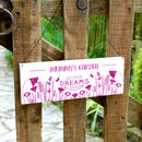 Personalised Garden Sign