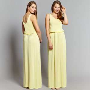 Eve Drop Top Maxi Bridesmaid Dress