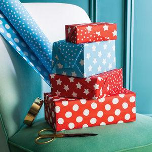 Double Sided Christmas Wrapping Paper - ribbon & wrap