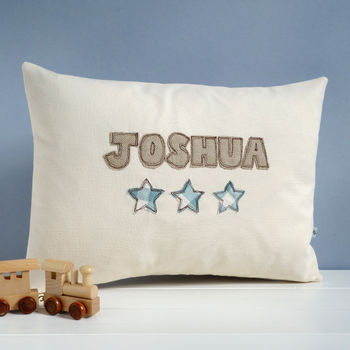Personalised Name Cushion With Stars
