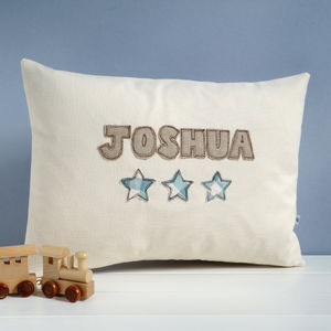 Personalised Name Cushion With Stars - cushions