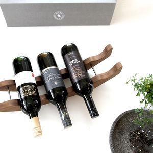 Solid Oak Wooden Wine Rack | Gift Boxed