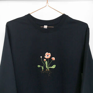 Embroidered Poppy With Roots Jumper Oversized