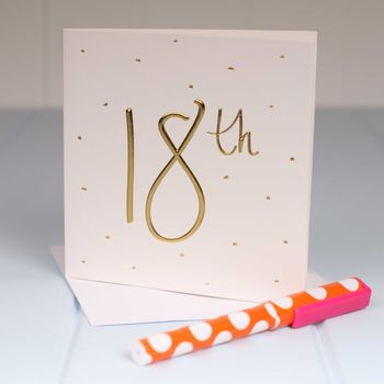 Embossed '18th' Birthday Card