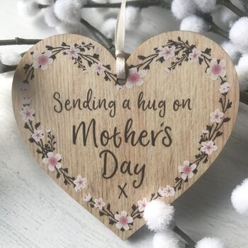 Personalised Mothers Day Flower Keepsake Heart