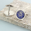 1949 70th Birthday Enamel Sixpence Cufflinks