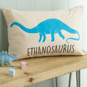 Personalised Velveteen Dinosaur Children's Cushion - personalised cushions