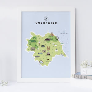 Map Of Yorkshire