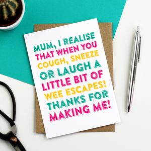 Happy Mother's Day Laugh Sneeze Cough Funny Card - shop by category