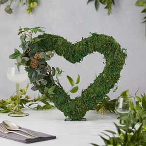 Moss Heart Wedding Decor - new lines added