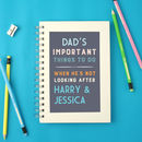 Personalised Parent's To Do Notebook