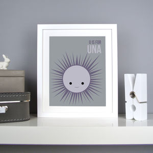 Personalised Urchin Nursery Print
