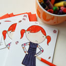 Illustrated Little Girl Postcards