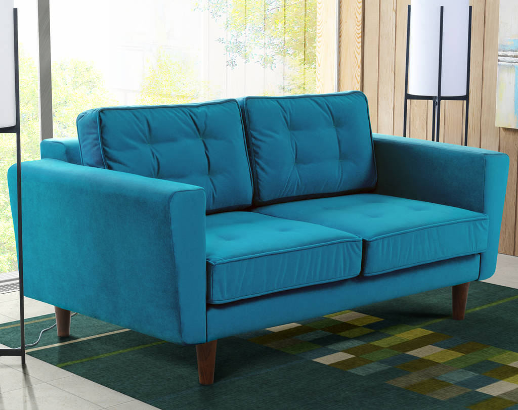 new york velvet two seater sofa by i love retro notonthehighstreet com rh notonthehighstreet com