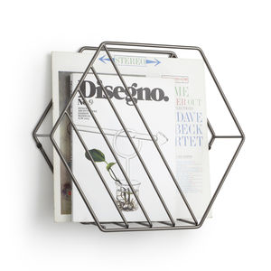 Hexagonal Magazine Rack Wall Organiser - magazine racks
