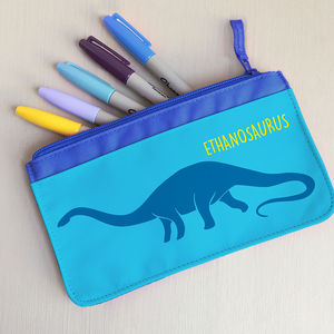 Children's Personalised 'Dinosaur' Fabric Pencil Case - whats new