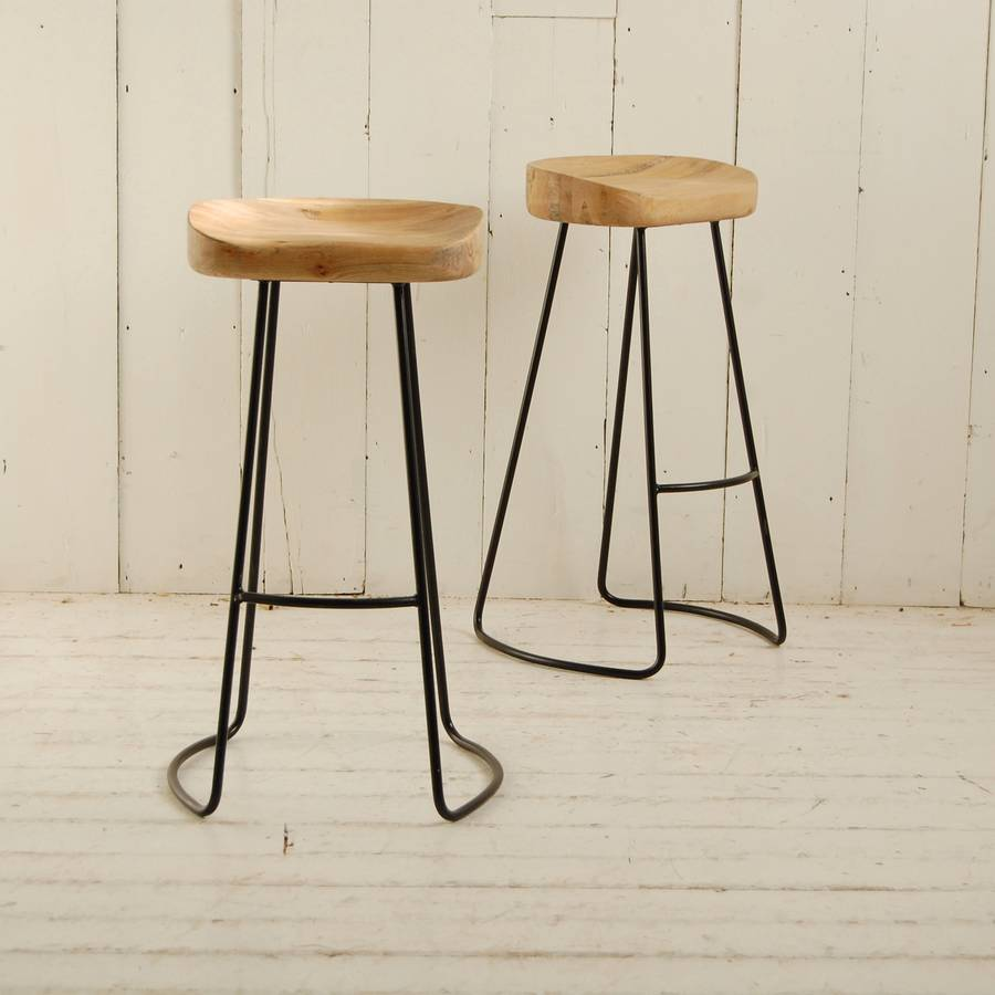 Metal Legged Bar Stool By Eastburn Country Furniture