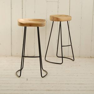 Metal Legged Bar Stool - furniture