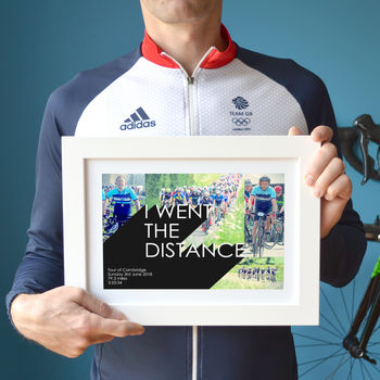 'I Went The Distance' Cycling Photo Collage Print