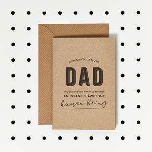 'Insanely Awesome' Funny Father's Day Card