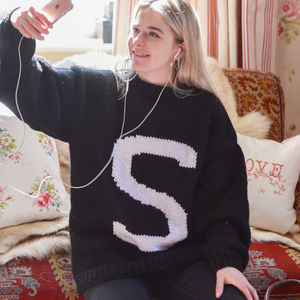 Hand Knitted Personalised Letter Sweater - new in baby & child