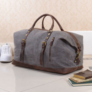 Canvas Classic Travel Holdall Bag Personalised - holdalls & weekend bags