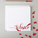 'You're My Lobster' Funny Anniversary Card