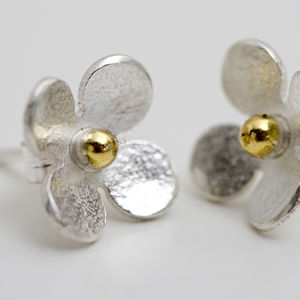 Flower Stud Earrings Of Porthleven