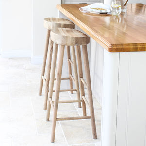 Oak Bar Stool - dining room