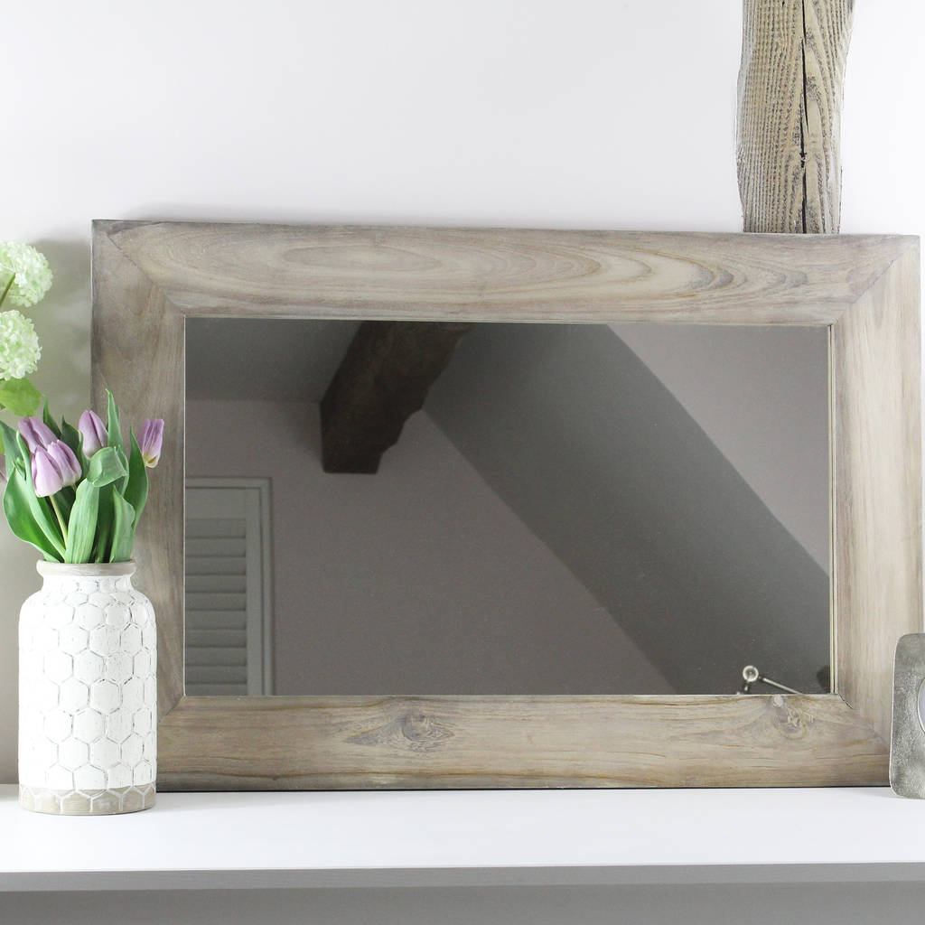 washed wood frame mirror by lime tree london notonthehighstreet com rh notonthehighstreet com