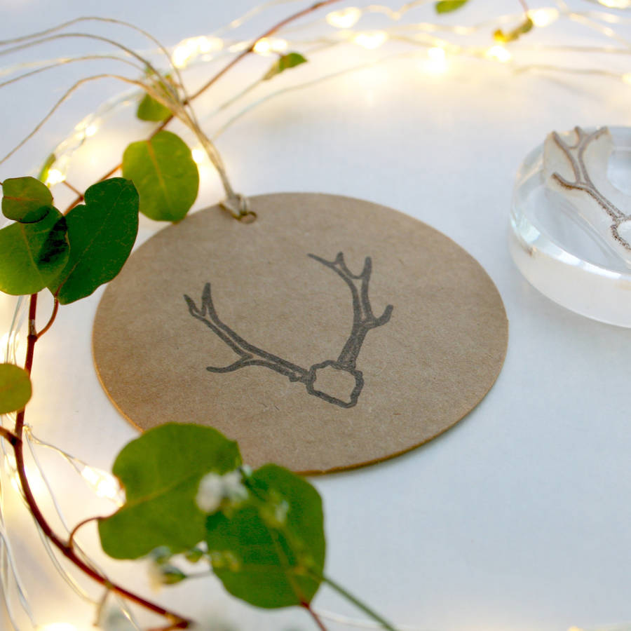 Native Stags Head Crystal Clear Stamp
