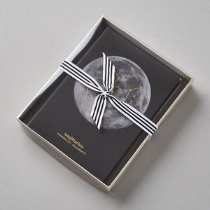 Metallic Gold Moon Constellation Cards Set Of 12