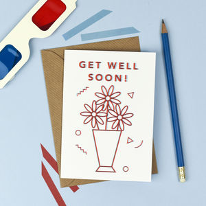 3D Get Well Soon Card - get well soon cards