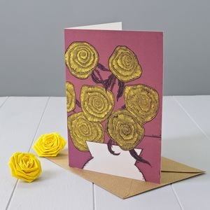 Yellow Roses Greeting Card - birthday cards