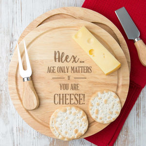 Personalised Birthday Cheese Board For Men - 60th birthday gifts