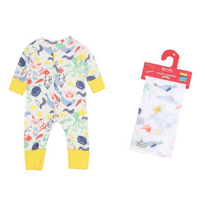 Underwater Romper And Muslin Swaddle Set