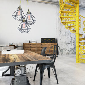 Diamond Cage Cluster Pendant - office & study