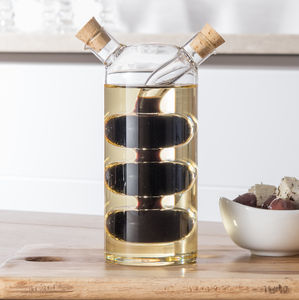 Two In One Balsamic Vinegar And Oil Bottle, Droplet - bottles