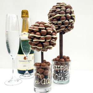 Personalised Honeycombe Chocolate Edible Tree - gifts for her sale